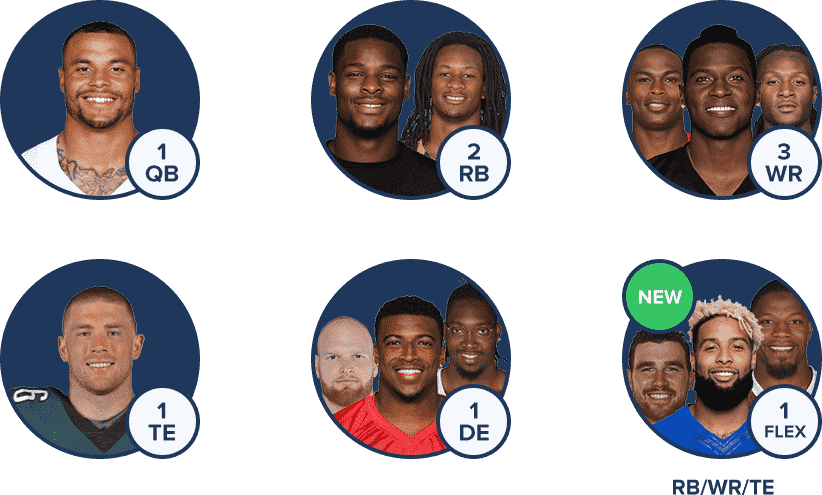 FanDuel NFL Lineup - New for 2018, No kicker